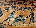 Pittore del louvre E739, hydria ricci, etruria (artigiani da focea), dalla banditaccia, 530 ac. ca., preparazione di sacrificio 03 uccisione capra.jpg