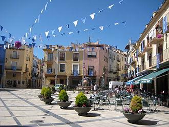 Sant Mateu - Main square in Sant Mateu.