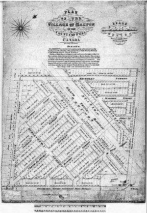Malton, Mississauga - Plan of the Village of Malton of the County of Peel, 1877 Peel Atlas, Dennis and Boulton Surveying Agents