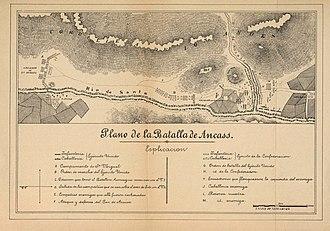 Battle of Yungay - Image: Plano de la Batalla de Yungay