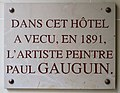 Plaque Paul Gauguin, 35 rue Delambre, Paris 14.jpg