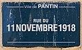 Plaque Rue 11 Novembre 1918 - Pantin (FR93) - 2021-04-27 - 1.jpg