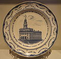 Plate commemorating the Latter-day Saints temple in Nauvoo, Illinois, 1844-1846, made by Joseph Twigg's Newhill Pottery, England - National Museum of American History - DSC06208.JPG