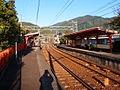 Platform of Miyakehachiman Station1.JPG