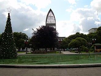 Osorno, Chile - Osorno's Main Square and Cathedral