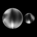 Pluto & Charon (Sub-earth 12 degrees latitude, 95 degrees longitude).png