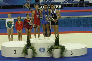 Marian Drăgulescu - Marian Dragulescu, Flavius Koczi  and Anton Golotsutskov  at the 2009 World Championships
