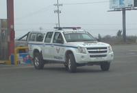 Camioneta Chevrolet Luv D-Max de la Policía Nacional del Ecuador .