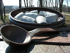 Halušky - Halušky monument in Poltava, Ukraine