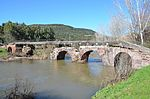 Pont'Ecciu, 1st century AD Roman bridge, restored and enlarged in 1157 during the period of the Giudicati, Allai, Sardinia (16564769070).jpg