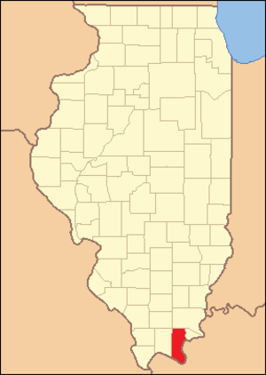 Pope County, Illinois - Image: Pope County Illinois 1839