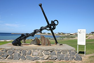 Port Neill, South Australia - Lady Kinnaird anchor on the foreshore at Port Neill