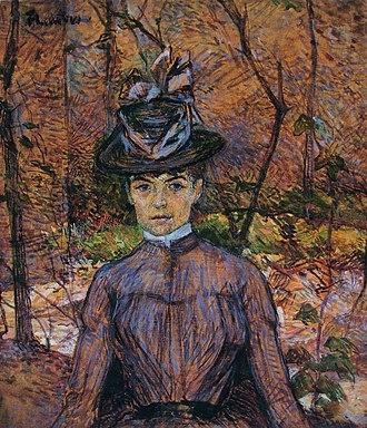 Portrait of Suzanne Valadon (Toulouse-Lautrec) - Portrait de Suzanne Valadon, 1885