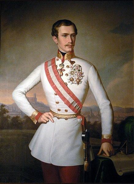 Archivo:Portrait of Emperor Franz Joseph in Ljubljana.JPG