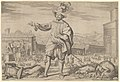 Portrait of Ioannes Altus (Johann Alten), of the Swiss Guard, standing by the Quirinal and pointing out the antiquities of Rome MET DP837534.jpg