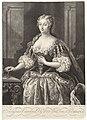 Portret van Caroline van Anspach, koningin van Groot-Brittannië, RP-P-1906-3306.jpg