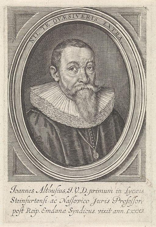 Portret van Johannes Althusius, RP-P-OB-16.077