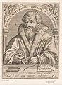 Portret van Johannes Mathesius Joannes Mathesius theolog' in Valle Joachimica (titel op object) Serie portretten van vijftiende- en zestiende-eeuwse geleerden (serietitel), RP-P-1917-730.jpg