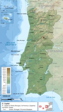 Mapa De Portugal Completo.Portugal Wikipedia A Enciclopedia Livre