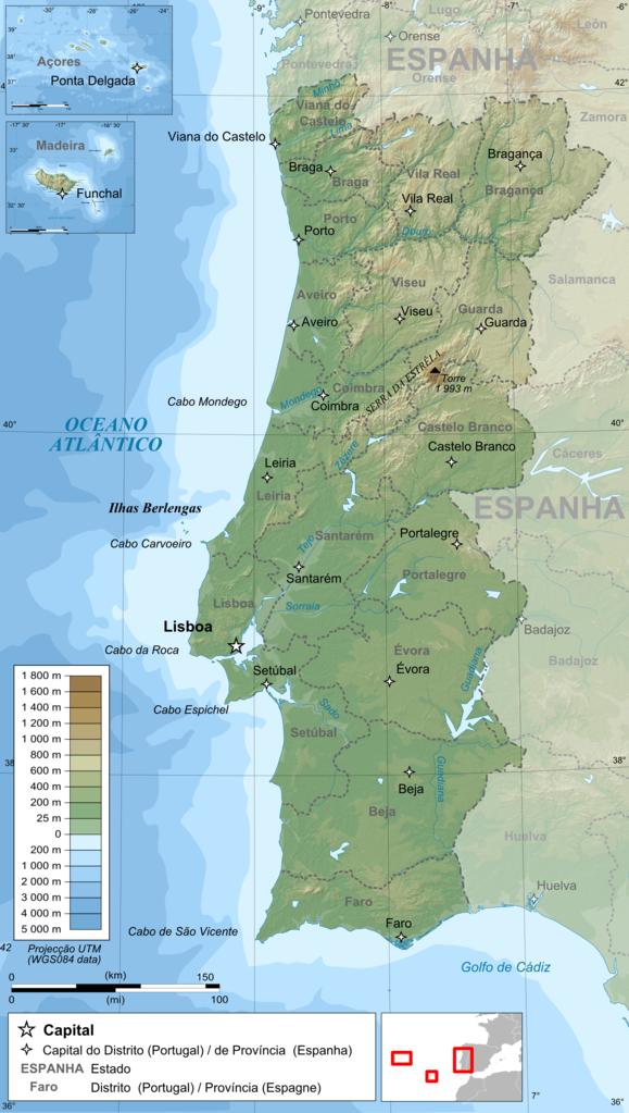 cabo espichel mapa File:Portugal topographic map pt.png   Wikimedia Commons cabo espichel mapa