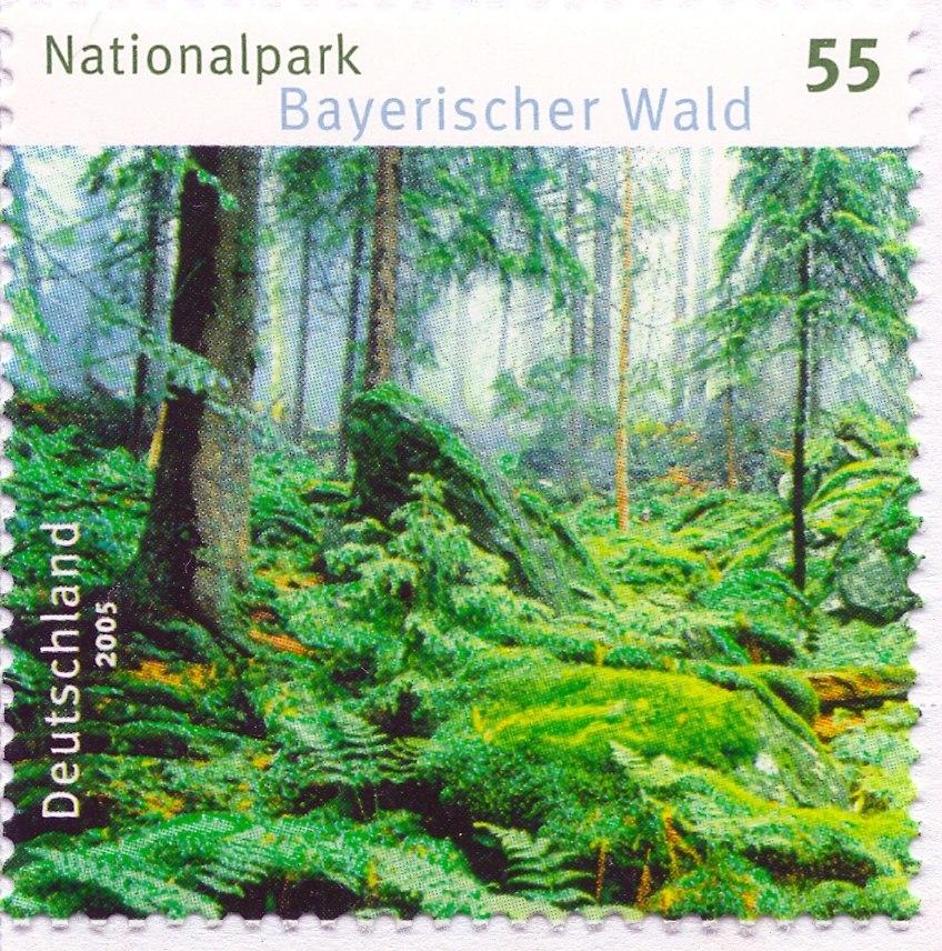 Postwertzeichen DPAG - Bayerischer Wald 2005 hi res scan