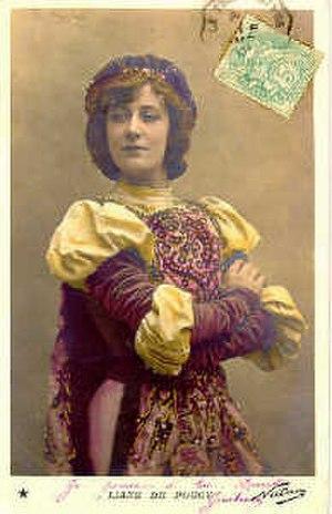 Liane de Pougy - A postcard depicting Liane de Pougy.