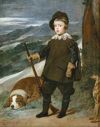 Balthasar Charles, Prince of Asturias - Image: Príncipe Baltasar Carlos cazador Velázquez lou