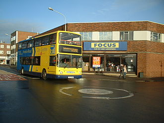 Park and ride - A park and ride bus in Exeter, England.