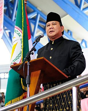 Prabowo Subianto - Prabowo during the 2011 Southeast Asian Games