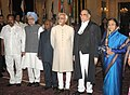 Pratibha Devisingh Patil, the Vice President, Shri Mohd. Hamid Ansari the Prime Minister, Dr. Manmohan Singh, the Union Minister for Law & Justice, Dr. M. Veerappa Moily and the outgoing Chief Justice of India.jpg