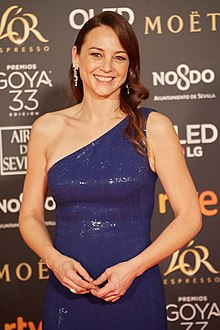 Leonor Watling at the 33rd Goya Awards in 2019
