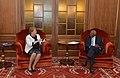 Presidenta de la República, Michelle Bachelet, sostuvo un encuentro privado con el Presidente de la República de Angola, José Eduardo dos Santos.jpg