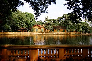 Presidential Palace, Hanoi - Carp pond on the grounds of the palace