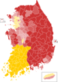 Presidential election of South Korea 2012 result by municipal divisions.png
