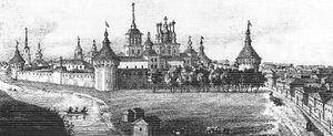 Vologda - The Spaso-Prilutsky Monastery in the early 19th century