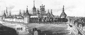 Vologda - The Spaso-Prilutsky Monastery in the early 19th century