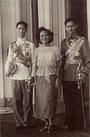 Princess Sri Sangwal with King Ananda Mahidol and Prince Bhumibol Adulyadej.JPG