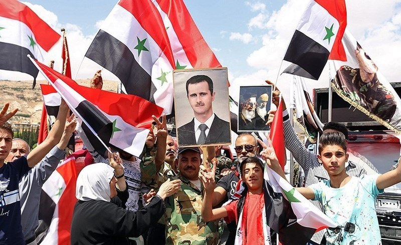 Pro-government Syrians demonstration in Damascus after US missile strike 06