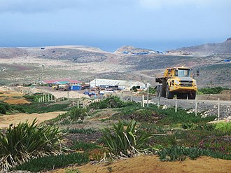 Saint Helena Airport - Construction on Prosperous Bay Plain, February 2015