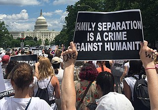 Women Disobey protest against the Trump administration family separation policy