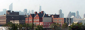MoMA PS1 - MoMA PS1 with Manhattan skyline in background.