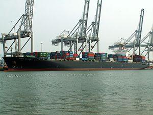 Pusan Senator p2, at the Amazone harbour, Port of Rotterdam, Holland 07-May-2006.jpg