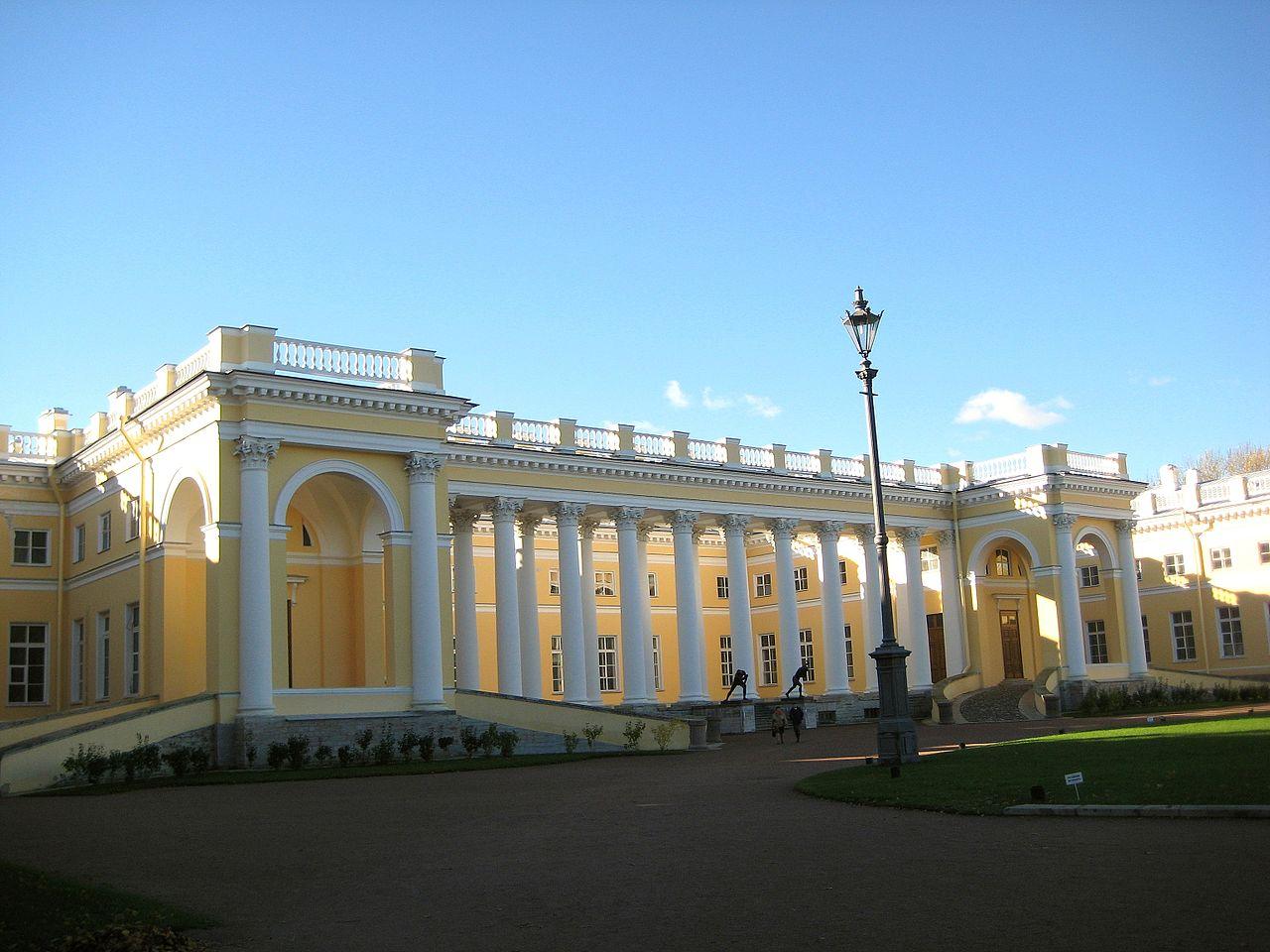 File:Pushkin (Tsarskoye Selo). Alexander Palace (Colonnade ...