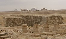 Photograph of a pyramid in Saqqara