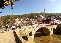Foto van het centrum van de stad Prizren
