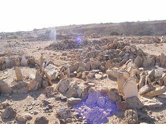 Qombo'ul - Ancient cairns in Qombo'ul.
