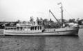 Queensland State Archives 2743 Brisbane pilot boat Captain Heath Brisbane River August 1946.png