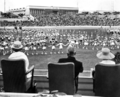 Queensland State Archives 7968 Princess Alexandra watching a youth rally at the exhibition grounds Brisbane 6 September 1959.png