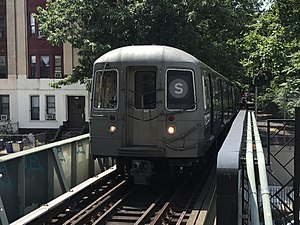 S (New York City Subway service) - Franklin Avenue Shuttle at Park Place
