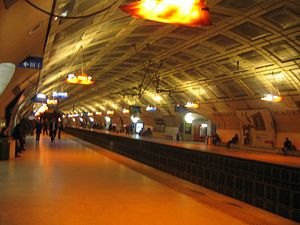 RER E - Station Magenta on the RER E